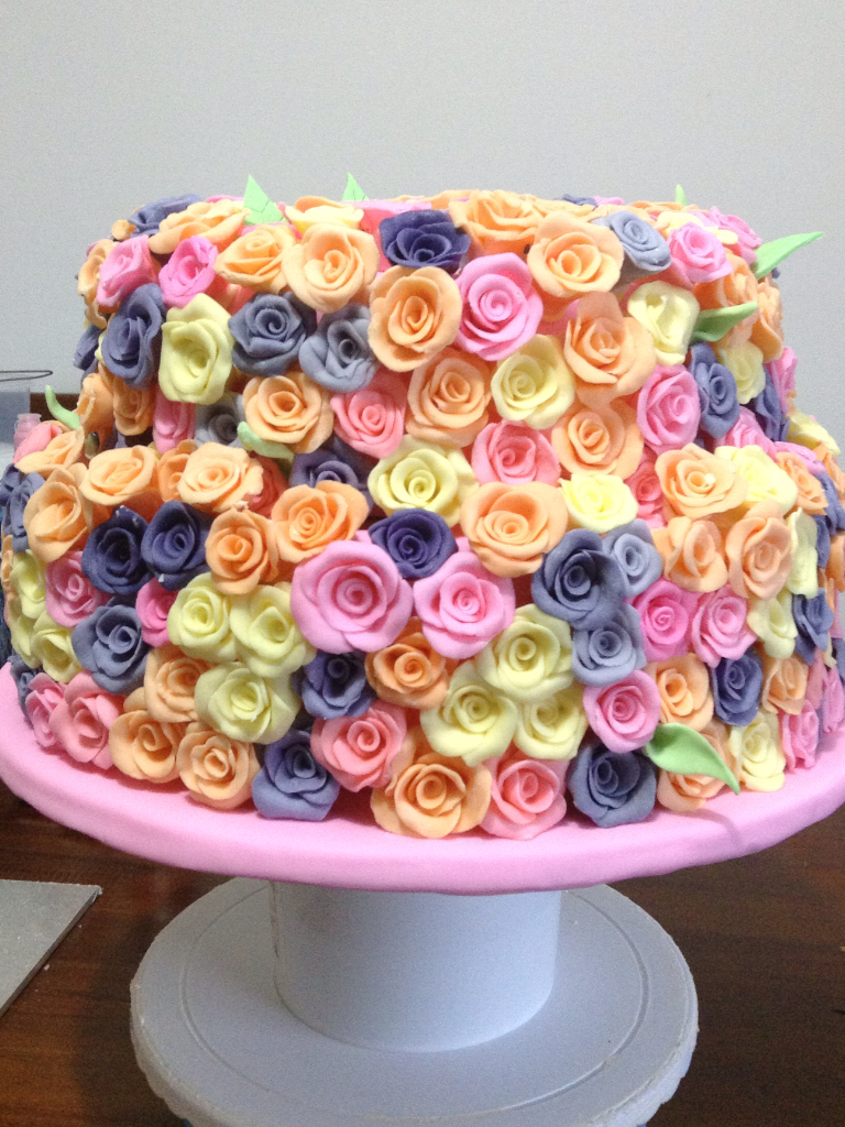 Cake with Modeling Chocolate Roses - Bluprint.com