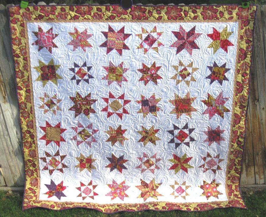 Star Quilt -Free Quilting Pattern on Bluprint