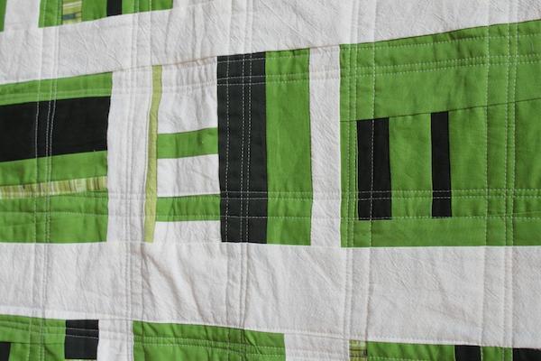 Green Basketweave Quilt - Bluprint