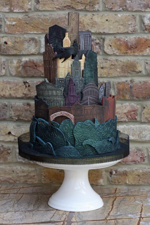 Cake with Modeling Chocolate City - Craftsy.com