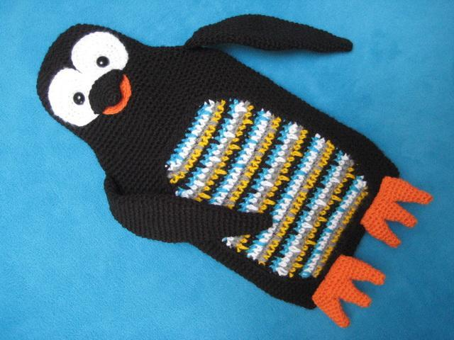 Crochet penguin hot water cozy - Bluprint.com