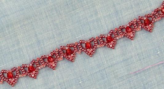 Hearts Bracelet - Free Jewelry Pattern