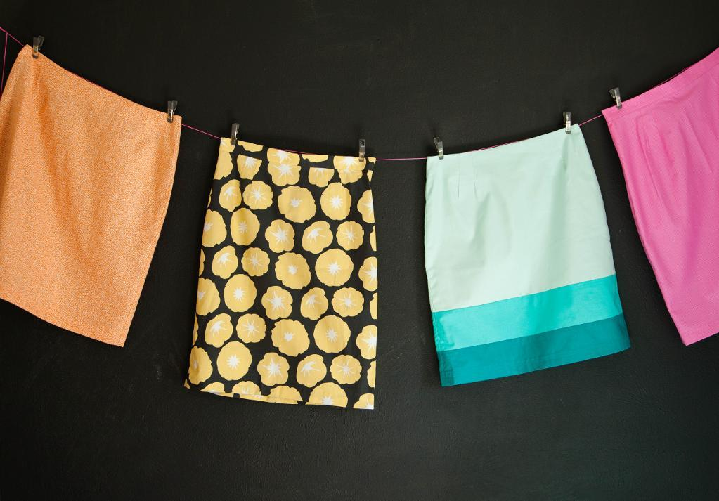 Skirts Hanging on a Line - from Garment Basics with Brett Bara