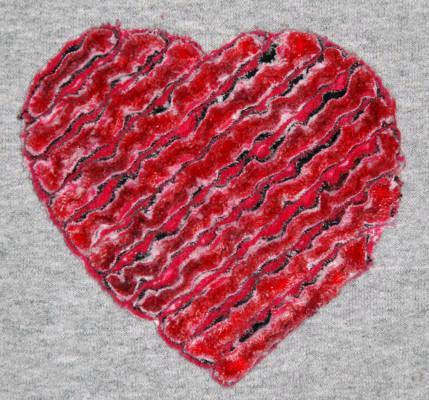 Chenille Heart - Embroidery Pattern on Bluprint