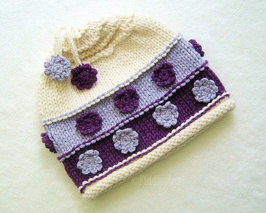 Violet knit hat