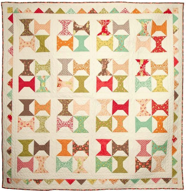Quilt with Colorful Spools Design - Bluprint.com