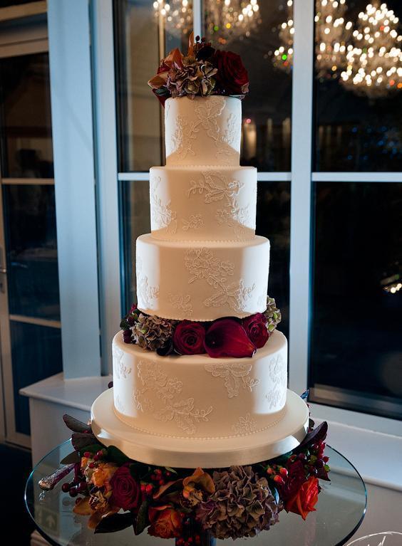 Four-Tiered Traditional Wedding Cake by Zoe Clark
