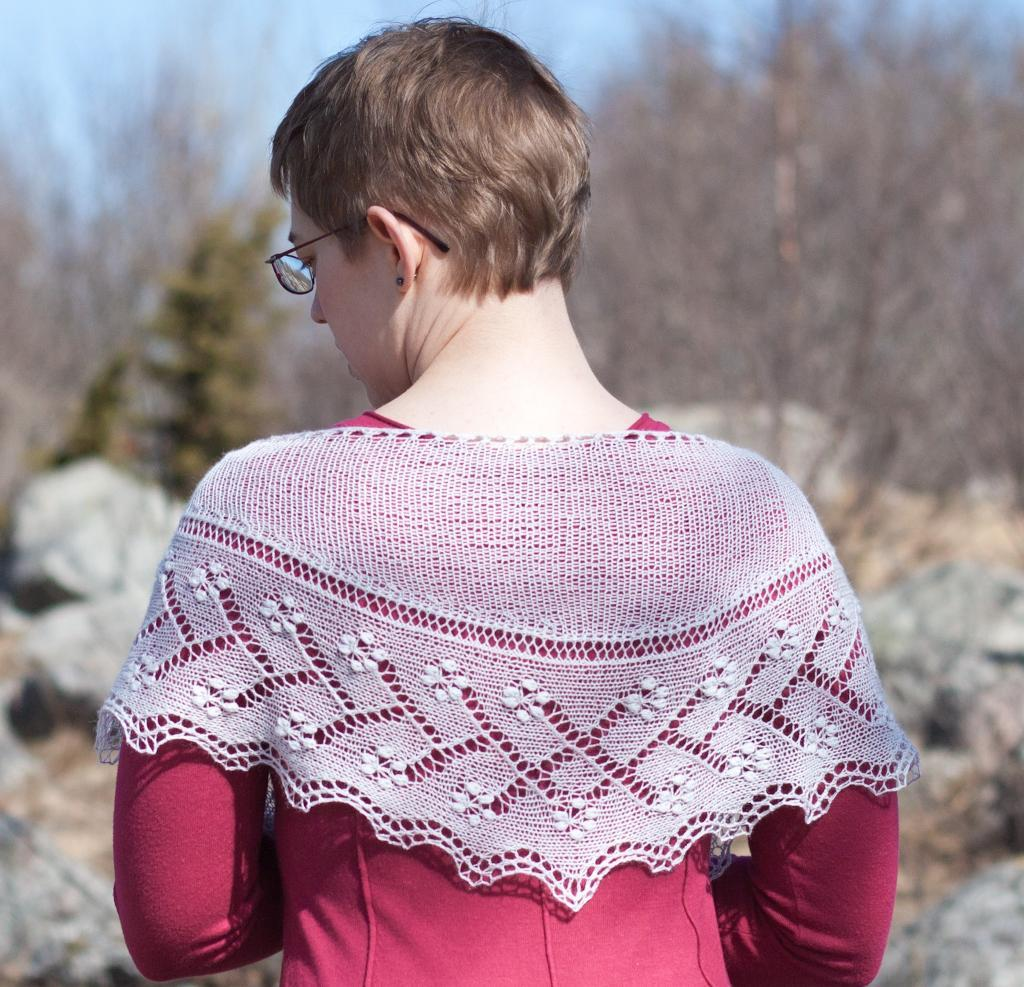 Estonian lace Malva shawl