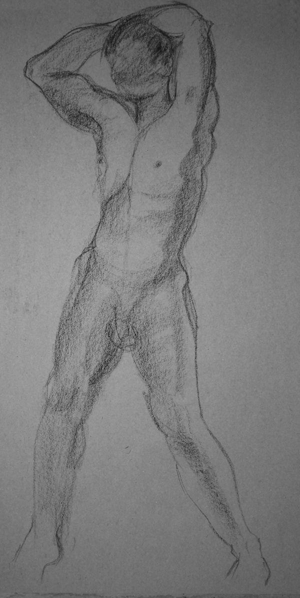 Gesture Drawing of Man on Craftsy.com, via Sandrine Pelissier