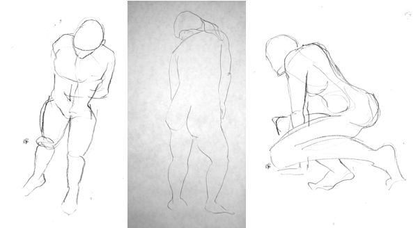 Series of Male Gesture Sketches