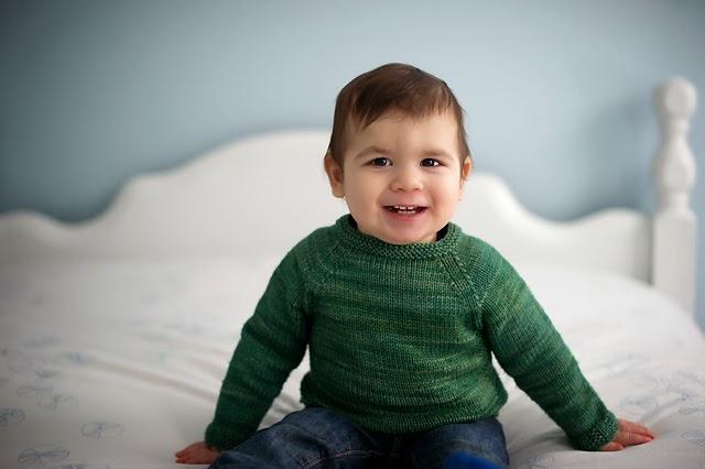 Little Boy in Green Sweater