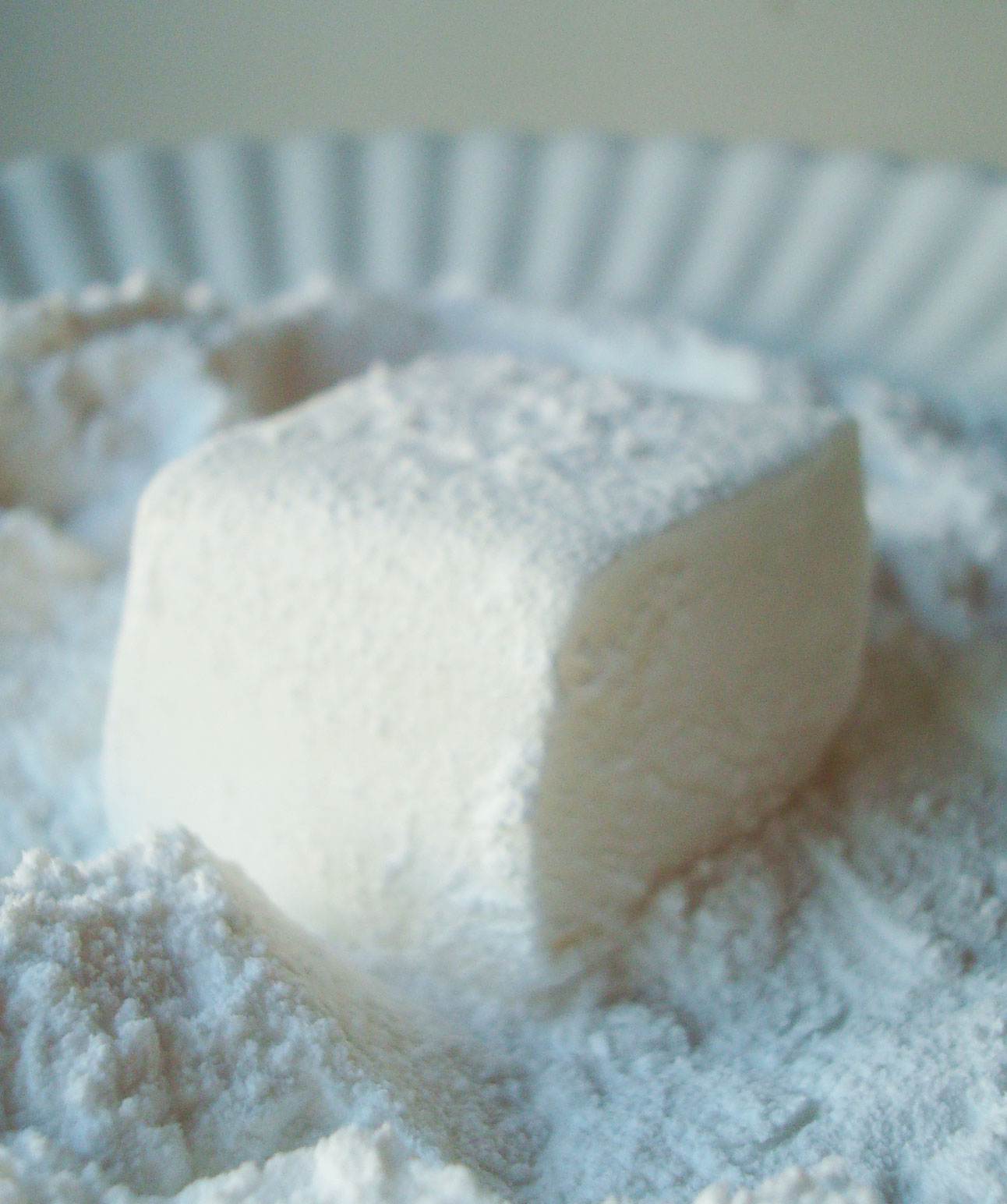 Homemade Marshmallow Dusted in Powdered Sugar