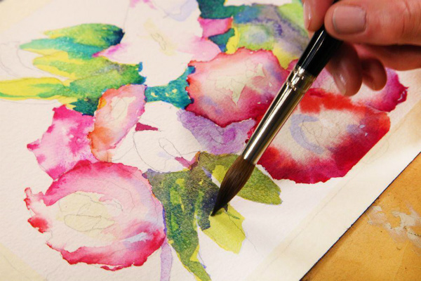 Watercolor Flower on Craftsy.com