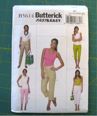 Butterick Pant Sewing Pattern
