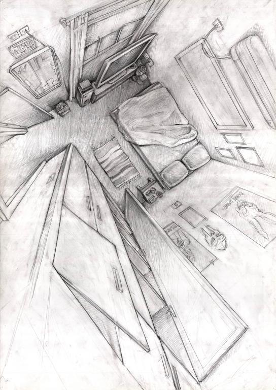 Bluprint Member Work: Looking Down Into Bedroom
