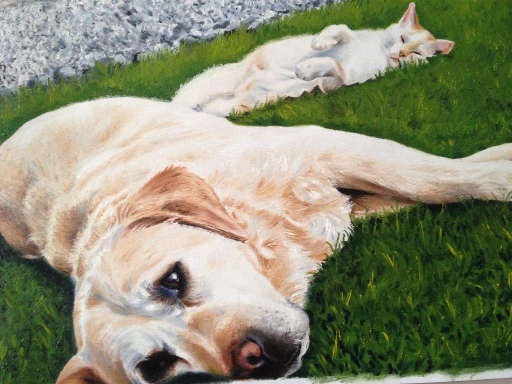 Dog and Cat - Painting by Bluprint Member