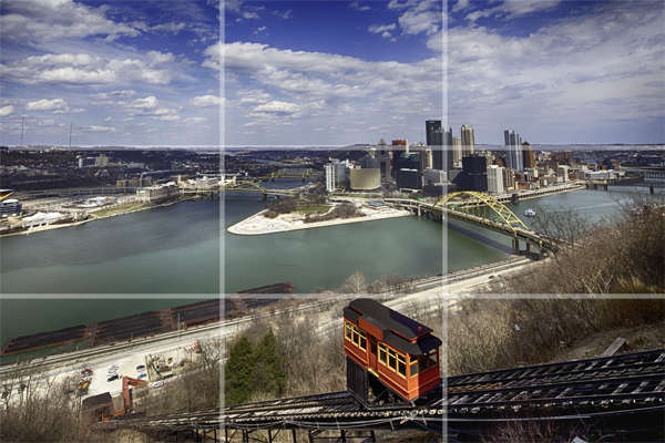 Cityscape of Pittsburgh: Rule of Thirds