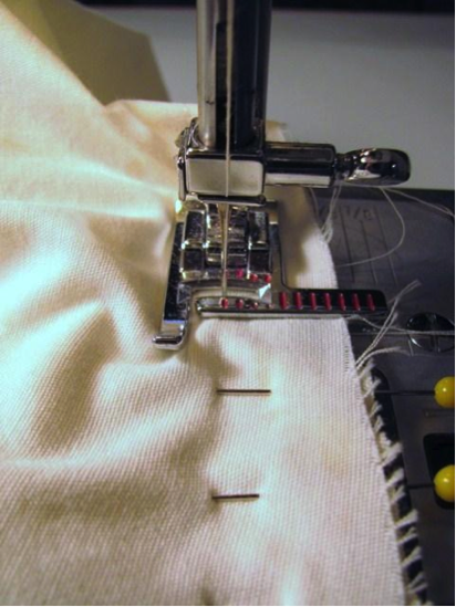 Set-In Sleeve Being Sewn