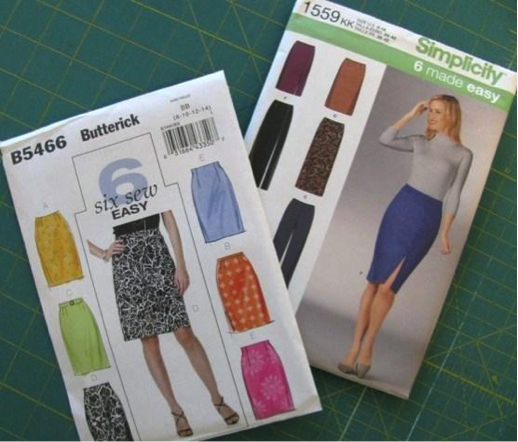 Butterick and Simplicity Skirt Sewing Patterns