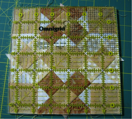 A Quilt Block Made with Many Small Pieces
