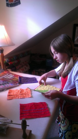 11-Year-Old Quilting Making a Stitch Bible