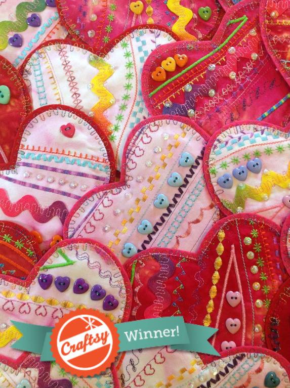 Stitched Valentine's Hearts