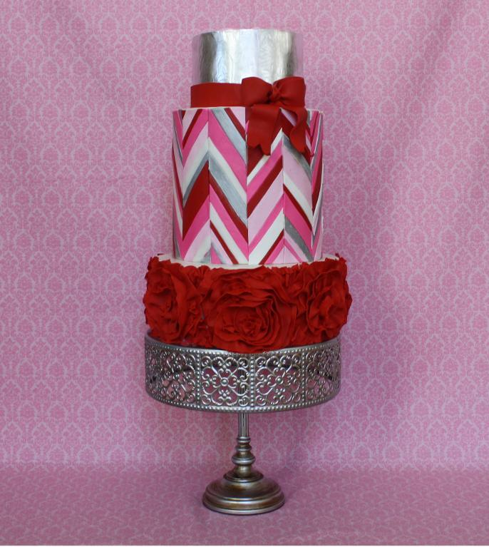 Chevron Valentine's Cake Design - Bluprint Member