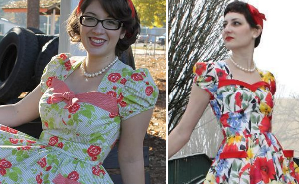 Flirty Vintage Day Dress by Laura Nash