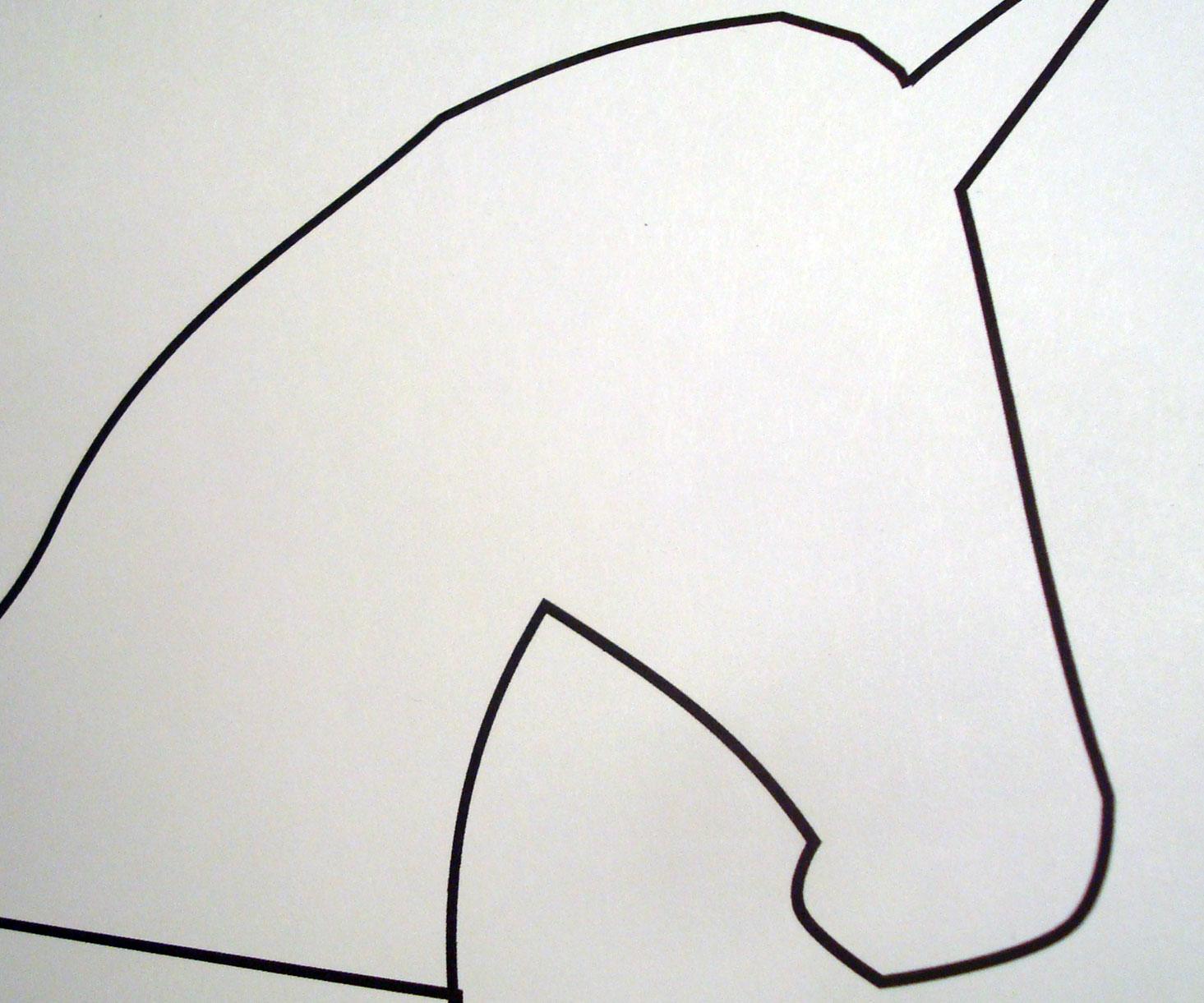 Shape of Unicorn Head