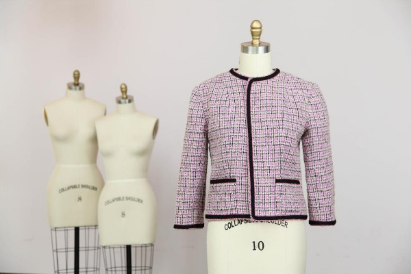Woold Tweed Jacket on a Dress Form