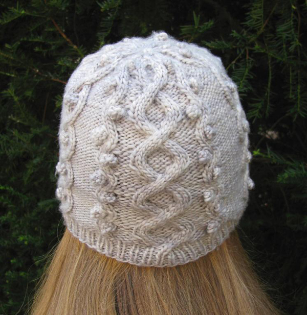 White Bobble Knit Hat - Bluprint Member Pattern