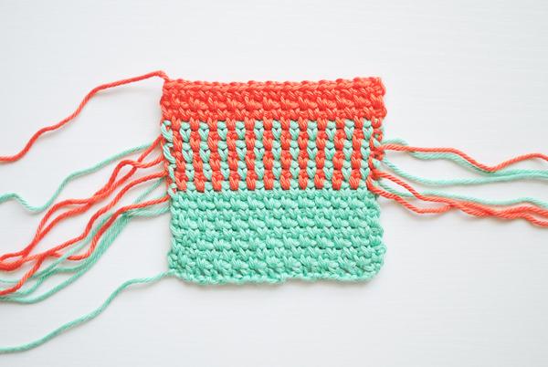 Crochet the woven stitch