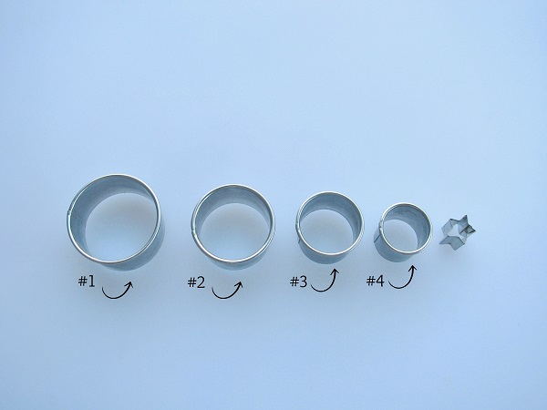 Various Sizes of Fondant Cutters