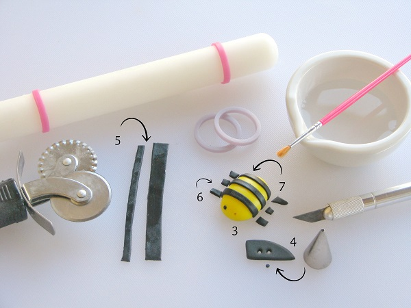 Tools for Making a Fondant Bumble Bee