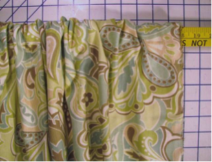 """Step 5: 1 ½ times the fullness slide the fabric to the 24"""" mark"""