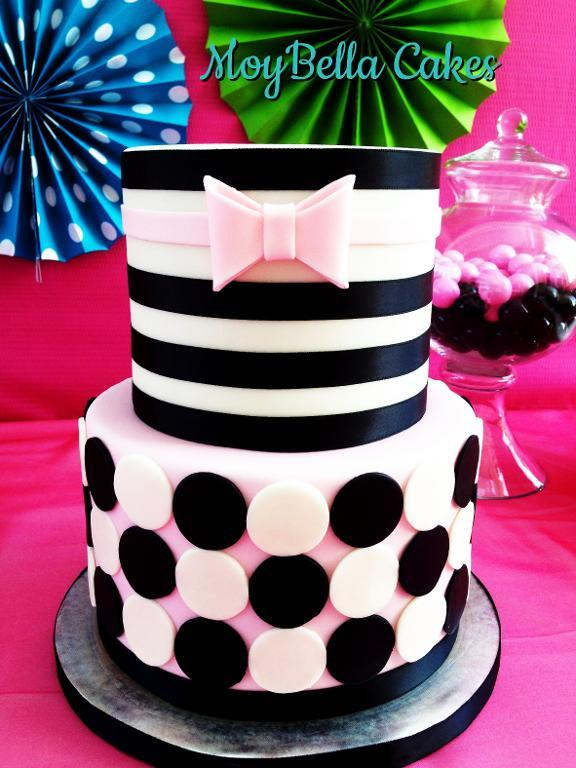 Stripes and Dots Cake: Bluprint Member Project