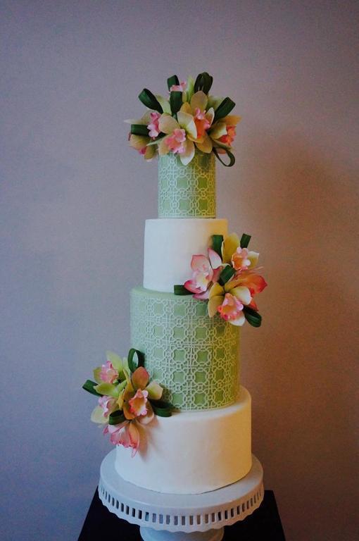 James Roselle Inspired Orchid Cake : Modern Wedding Cakes