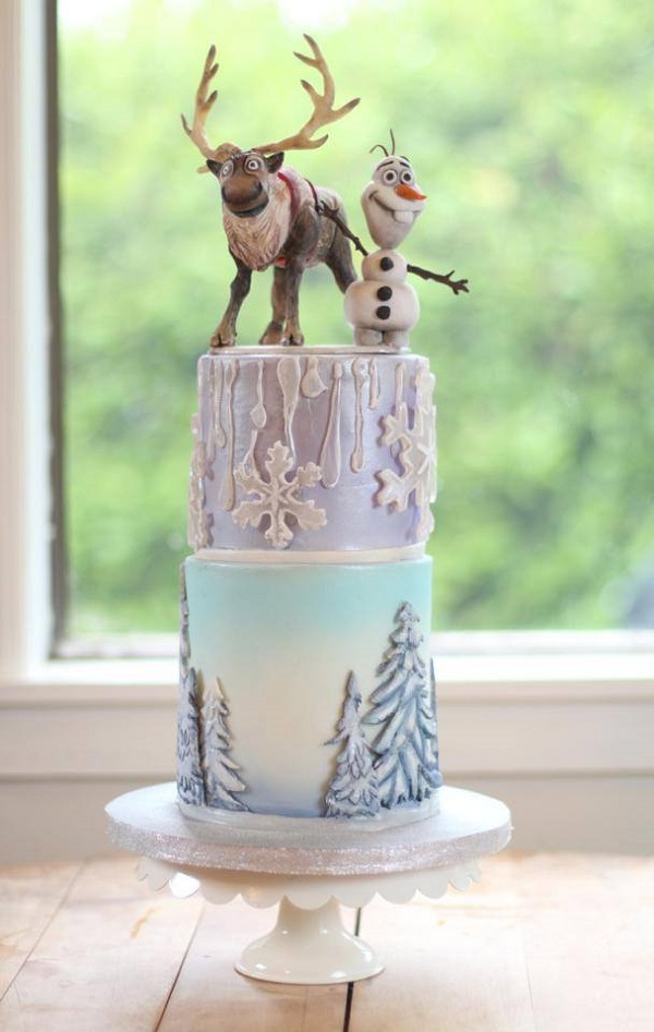 Multi-Tiered Frozen-themed Cake.