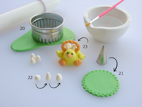 Easter Cupcake Topper -  Tutorial on Craftsy.com
