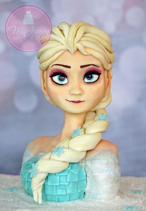 Queen Elsa Cake