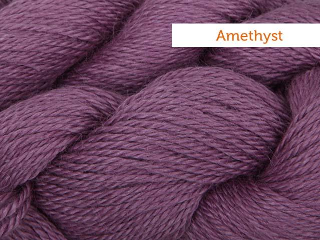 Amethyst Blue Sky Alpaca silk yarn