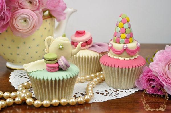 Parisian Macaron Cupcakes by Juniper Cakery