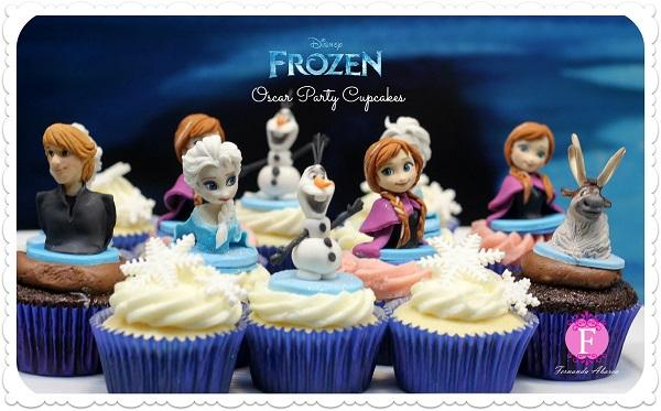 Disney's Frozen Oscar Party Cupcakes