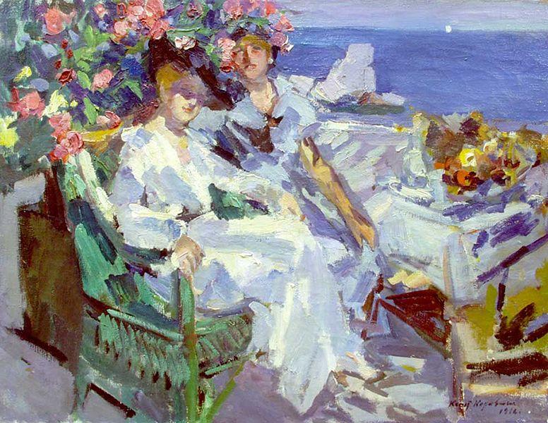 """""""On Terrace"""" by Konstantin Korovin"""