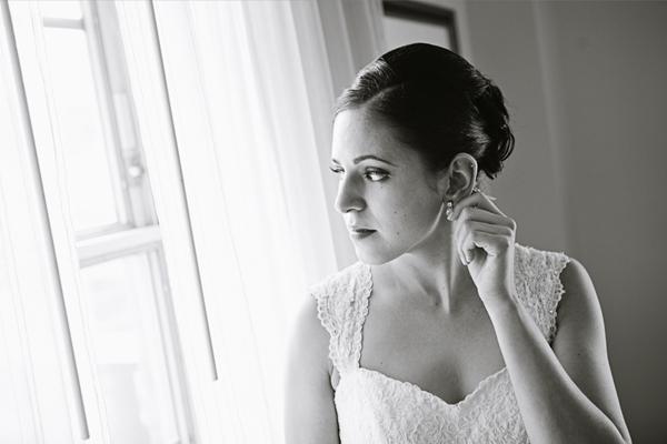 Intimate Wedding Photo of Bride