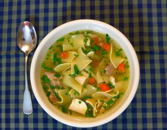 Homemade chicken noodle soup - Bluprint.com