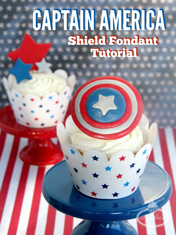 Title Image: How to Make Captain America Cupcakes - Tutorial on Bluprint.com