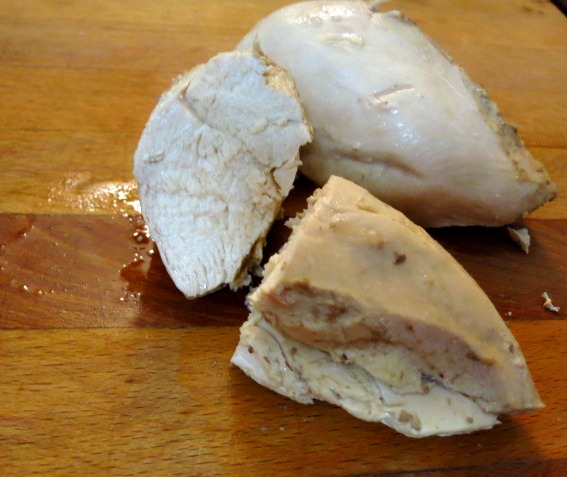 Perfectly cooked chicken breast