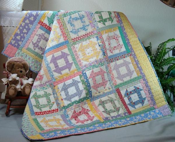 Churn Dash Quilt - Pattern available on Bluprint.com