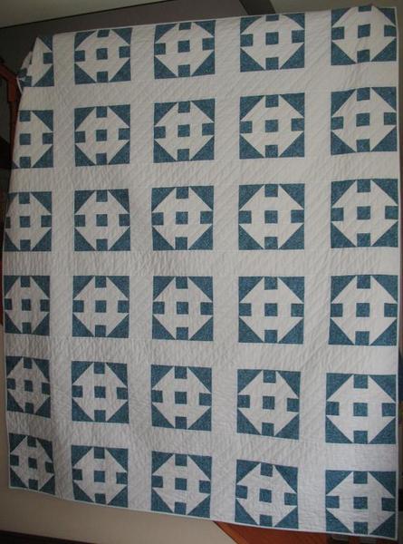 Vintage Churn Dash Quilt - Bluprint Pattern